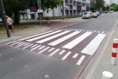 Próg z przejściem dla pieszych